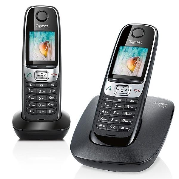 telephone sans fil gigaset siemens gigaset c620 duo noir. Black Bedroom Furniture Sets. Home Design Ideas