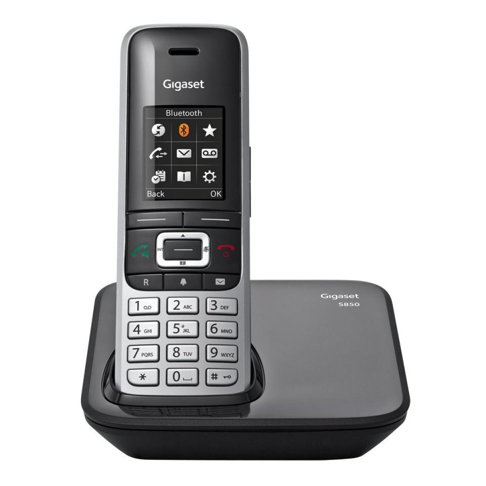 telephone sans fil gigaset siemens gigaset s850 noir. Black Bedroom Furniture Sets. Home Design Ideas