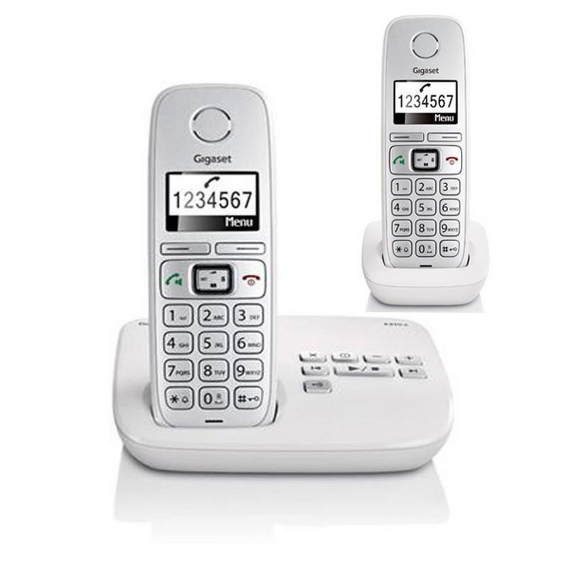 telephone sans fil gigaset siemens gigaset e310a comfort duo blanc rpondeur. Black Bedroom Furniture Sets. Home Design Ideas