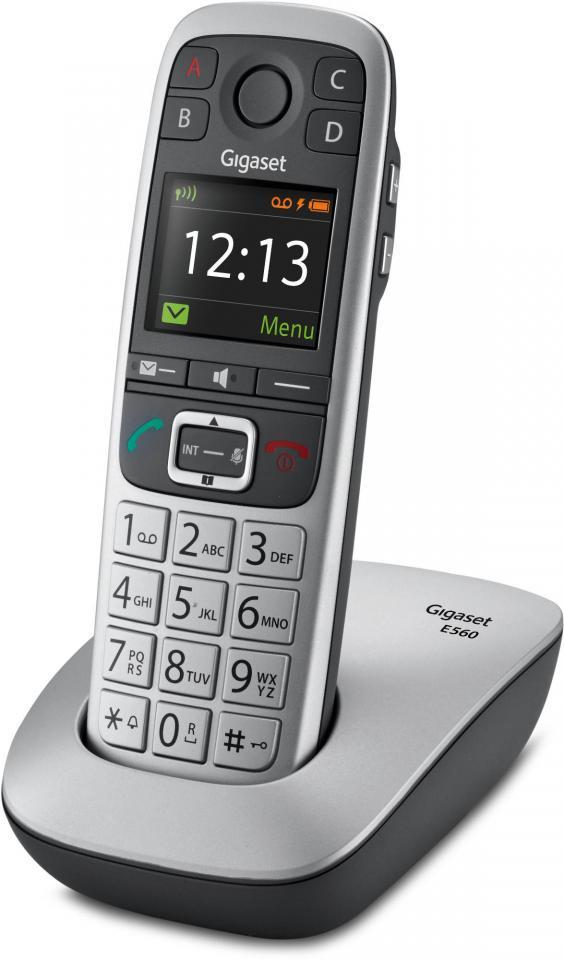 telephone sans fil gigaset siemens gigaset e560 silver. Black Bedroom Furniture Sets. Home Design Ideas