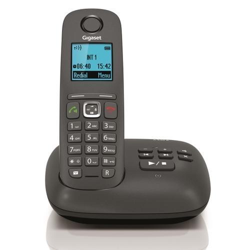 telephone sans fil gigaset gigaset a540a trio noir avec r pondeur. Black Bedroom Furniture Sets. Home Design Ideas