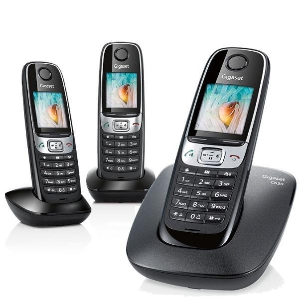 telephone sans fil gigaset siemens gigaset c620 noir. Black Bedroom Furniture Sets. Home Design Ideas