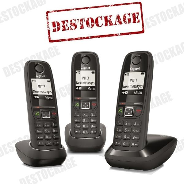 t l phone sans fil siemens gigaset as405 duo chocolat. Black Bedroom Furniture Sets. Home Design Ideas