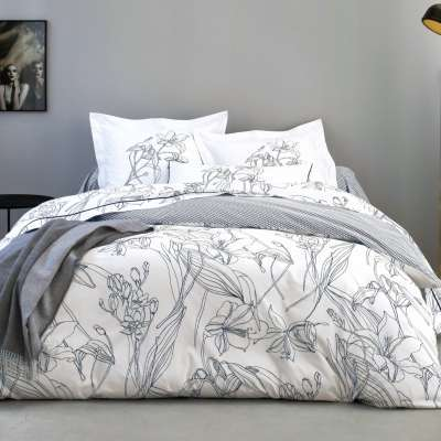blanc drap housse percale majorelle des vosges caramel. Black Bedroom Furniture Sets. Home Design Ideas