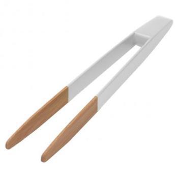 Pince toast aimant vert 24 cm en bambou alimentaire - Pince alimentaire en plastique ...