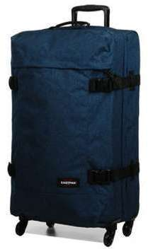 Valise cabine souple Eastpak Trans4 TSA L - 75 cm Double Denim bleu RBqZH2mb2f