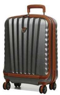 Valise cabine rigide ordinateur Roncato Uno DLX 16 pouces Titanium gris dDR8rlB