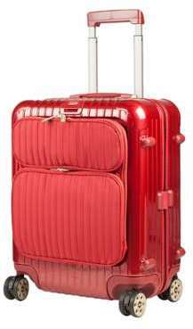 Rimowa Valise cabine rigide 4 roues - 56cm Salsa Deluxe Hybrid-Rouge #FF0000 Rouge HtKPAL